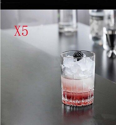 New 5X Capacity 240ML Height 100MM Transparent Whisky Wine Glass/Glassware %