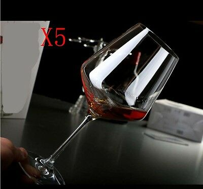 New 5X Capacity 550ML Height 220MM High Foot Red Wine Glass/Glassware %