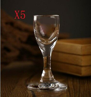 New 5X Capacity 15ML Height 92MM Transparent Small White Wine Glass/Glassware %