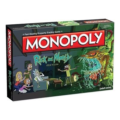 Rick And & Morty Monopoly Board Game New!!!