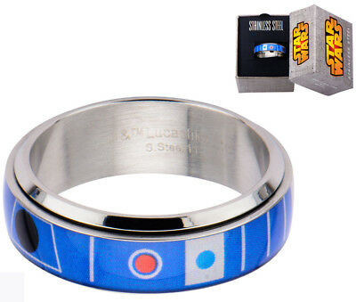 Star Wars Ring R2D2 Spinner Ring Colour Size 12 New!!