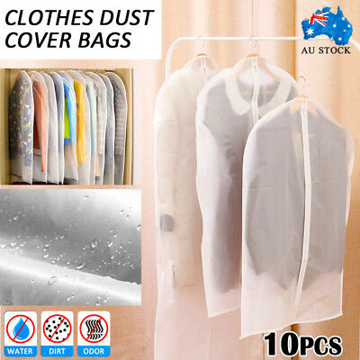 10pcs SUIT DRESS CLOTHING DUST COVER BAGS Jacket Wardrobe Storage Coat Protector