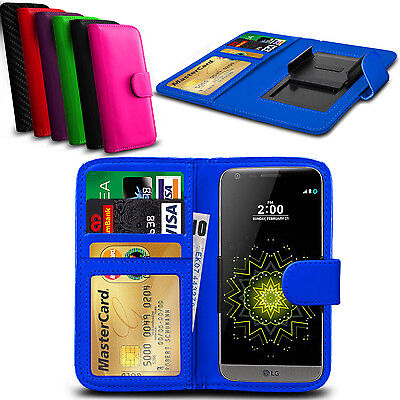 Clip On PU Leather Flip Wallet Book Case Cover For LG Tribute