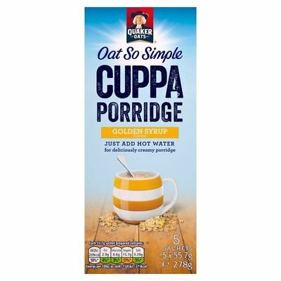 Quaker Oat So Simple Cuppa Porridge Golden Syrup 5 x 49.5g