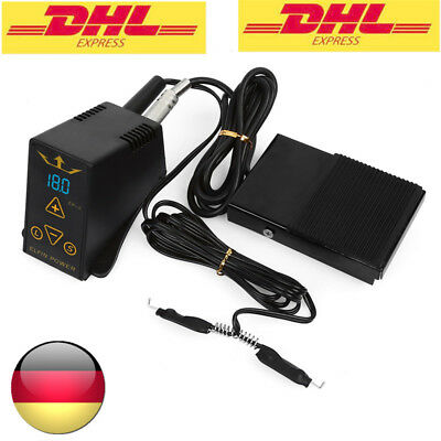 LCD Digital Tattoo Netzteil Stromversorgung Power Supply + Fußpedal + Clip Cord