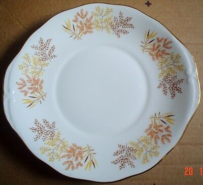 Pretty Royal Vale AUTUMN LEAVES Cake or Biscuit Plate