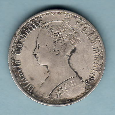 Great Britain. 1879 Gothic Florin..  F/F+