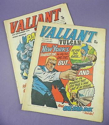 Pair of Valiant and Vulcan Comics - 19th June & 18th September 1976