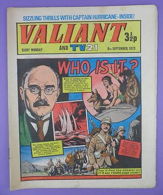 Valliant And TV21 Comic 8th Sepember 1973, Rudyard Kipling On Cover