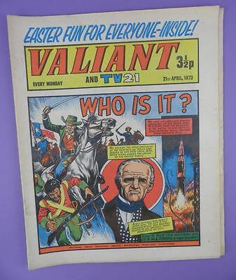 Valliant And TV21 Comic 21st April 1973, Sam Houston On Cover