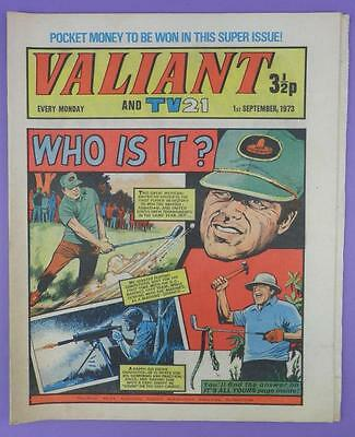 Valliant And TV21 Comic 1st September 1973, Lee Trevino On Cover