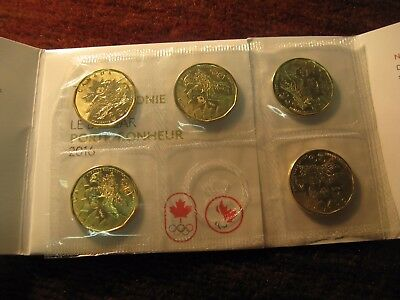 Canada 2016 Lucky Loonie 5 Pack $1 Coins From RCM Mint Rio De Janeiro Olympics.