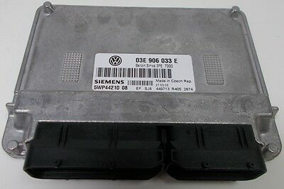 New Genuine Vw Polo 9N 1.2 Azq Engine Control Unit Ecu - 03E 906 033 E