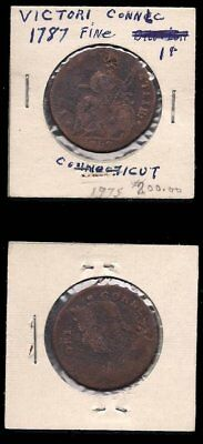 Usa - 1787 Connecticut Colonial - Copper Coin