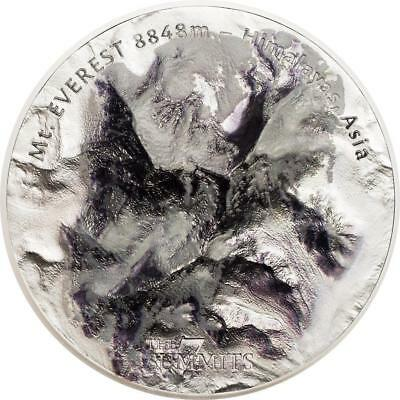 Cook Islands 2017 7 Summits Mt. Everest 25$ Silver 999 5 Oz Silver Coin
