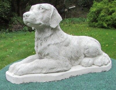 Concrete Golden Retriever Statue  /memorial / Grave Marker