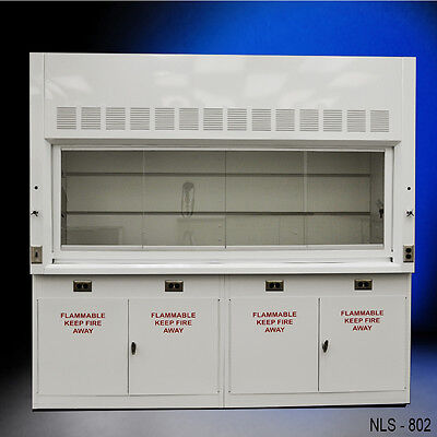--LAB EQUIPMENT - NEW 8' Laboratory Chemical Fume Hood with Flammable cabinets