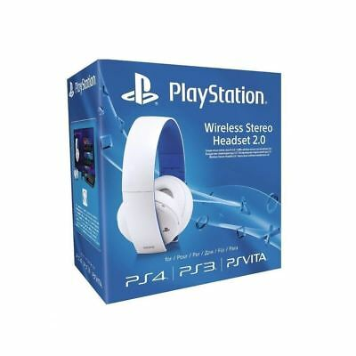 Sony Wireless Stereo 2.0 Gaming 7.1 Surround Sound Headset For PS4 White