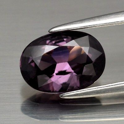 1.41ct 8.6x6.2mm Oval Natural Pinkish Purple Spinel Unheated, M'GOK