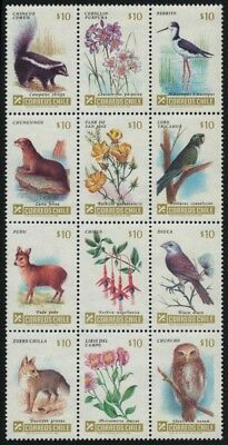 Chile 1985 - Mi-Nr. 1073-1084 ** - MNH - Wildtiere / Wild animals