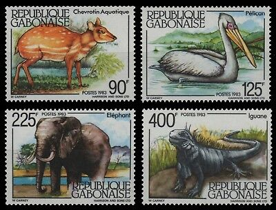 Gabun 1983 - Mi-Nr. 860-863 ** - MNH - Wildtiere / Wild animals