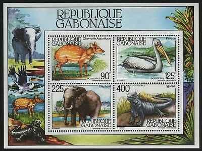 Gabun 1983 - Mi-Nr. Block 49 ** - MNH - Wildtiere / Wild animals