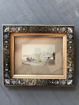 "Antique Cast Plaster Picture Frame Ornate 14"" X 12"" Photo 1800's Farmhouse B & W"