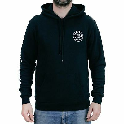 d8c55f90 Brixton Oath SV Hooded Sweatshirt Black White Hoodie New In Free Delivery