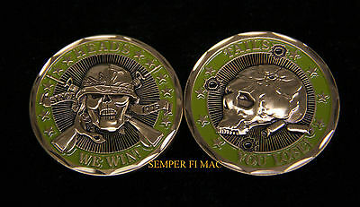 """""""heads We Win Tails You Lose"""" Challenge Coin Us Army Marines Navy Air Force Uscg"""