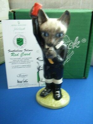 RED CARD MODEL FF5 BESWICK THE FOOTBALLING FELINES COLLECTION CAT mib