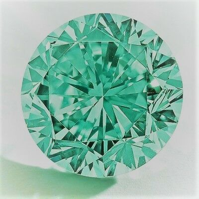 Diamant-Brillant-Diamond VVS 1 Fancy Green 0,75 Ct. 5,15 mm
