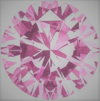 Diamant - Brillant - Diamond VVS 1 Fancy Pink 0,85 Ct. 5,25 mm