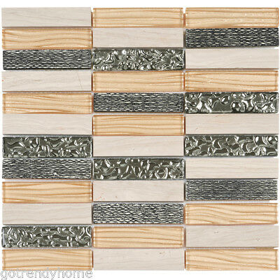 White Oak Marble Wall Floor Kitchen Backsplash Bathroom Mosaic Tile WOMM0202