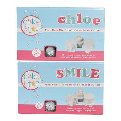 Cake Star Sugarcraft Decorating Push Easy Mini Icing Cutters Alphabet Letters