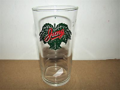 JUNG beer 1940's shell glass JUNG BREWERY RANDOM LAKE WISCONSIN