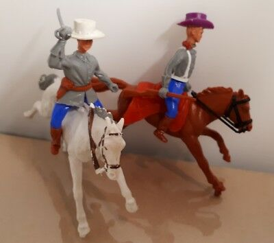 2 Timpo confederate army mounted soldiers