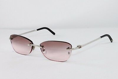 99d6965630 Cartier Platinum Rimless Sunglasses CT3504926 Frames Authentic France New