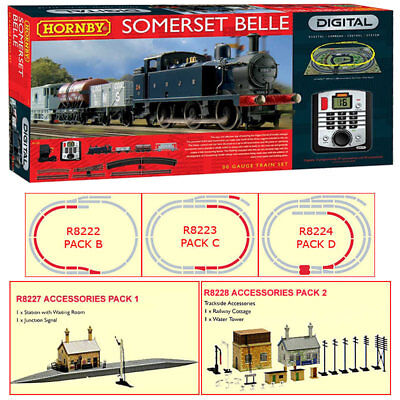 HORNBY Digital Train Set R1125 Somerset Belle with extra Track & Building Packs