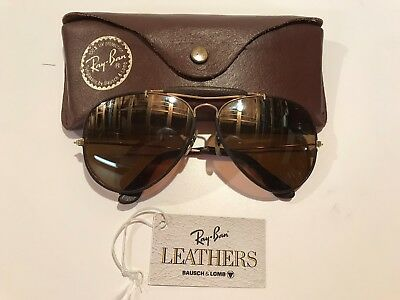 Vintage Ray Ban Leather Sunglasses