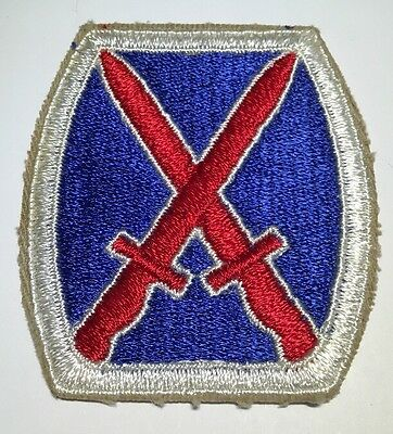 Original WWII US Army 10th Mountain Infantry Division White Back Cut Edge Patch