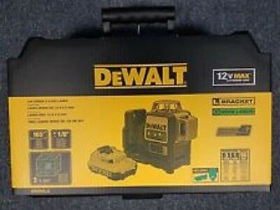 New Dewalt Dw089Lg 12 Volt Laser Line Level Green Beam 165' Range Kit 2667384