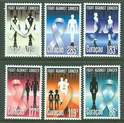 Curacao 2014  Fight Against Cancer Set Of Six  Mint Nh