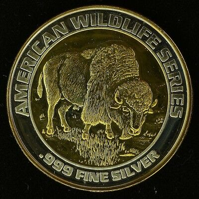 "Foxwood's American Wildlife Series ""LM"" 24k Gold & Silver Gaming Strike (ss20.35"