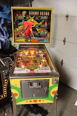 Williams Lucky Seven Pinball Machine All Shop Out Very Clean