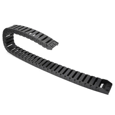 R28 15mm x 40mm Black Plastic Cable Drag Chain Wire Carrier 1M Length for CNC