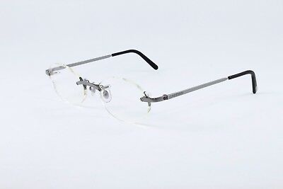 94907f1ffe Cartier Platinum Rimless Eyeglasses Rxable T8100449 Authentic France New  49-19