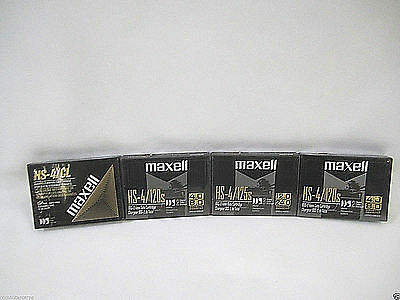 Maxell (1) HS-4/CL 4mm Cleaning Cartridge (3) HS-4/120, DDS-2 New