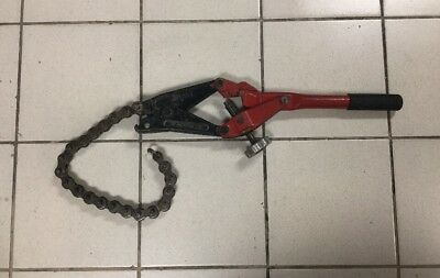 Reed Tool SC59 Single Stroke Soil Pipe Cutter with 24 Inch Chain