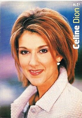 "CELINE DION - 11"" x 8"" TEEN MAGAZINE POSTER PINUP"
