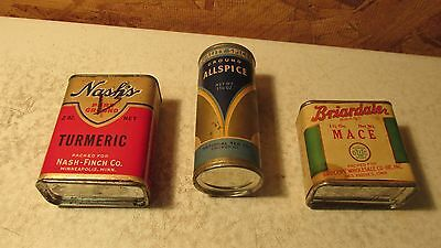3 Old spice Tins Nash's Quality Briardale